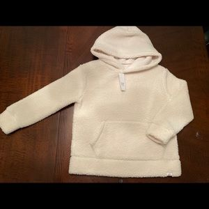 Gap kids pullover Sherpa hoodie NWT size S unisex